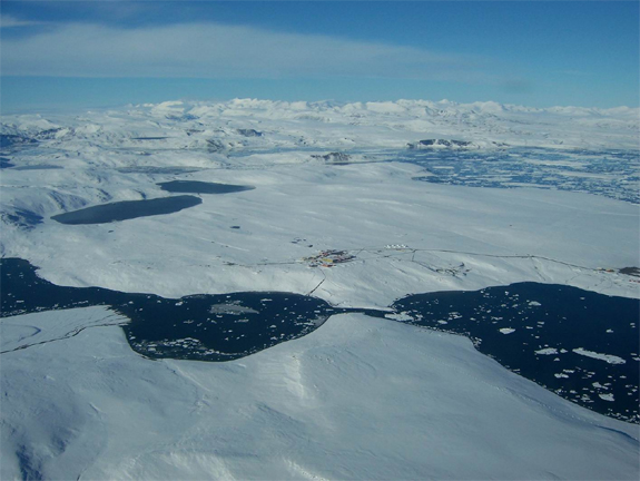 An aerial picture of the Canadian Forces Station at Alert, top of Ellesmere Island, Nunavut (taken in August 2008), where we are currently doing a lot of our research and bioremediation work.