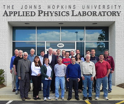 Krimigis and team for the MIMI (Magnetospheric Imaging Instrument) experiment on the Cassini spacecraft now orbiting Saturn at a recent (4/30/11) meeting at the Johns Hopkins Applied Physics Laboratory