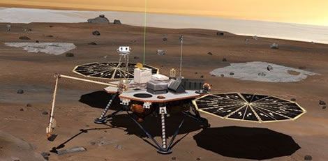 Phoenix Lander on Mars, from the NASA Mars Collecton.