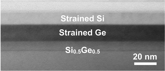 Cross-sectional transmission electron microscopy image of a very 
