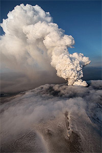Ash cloud of the Icelandic volcano Eyjafjallajökull caused shut-down of air traffic